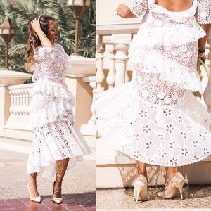 ALEXIS Mikaela Floral Lace open back Dress